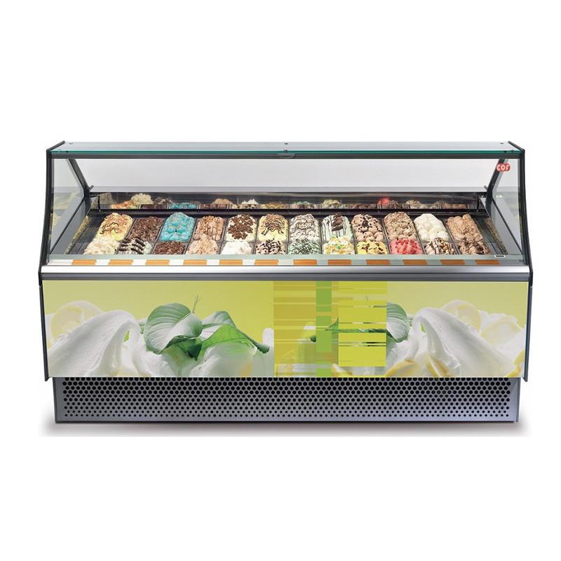 Premium αερόψυκτη βιτρίνα χύμα παγωτού – Gaia 18 JX