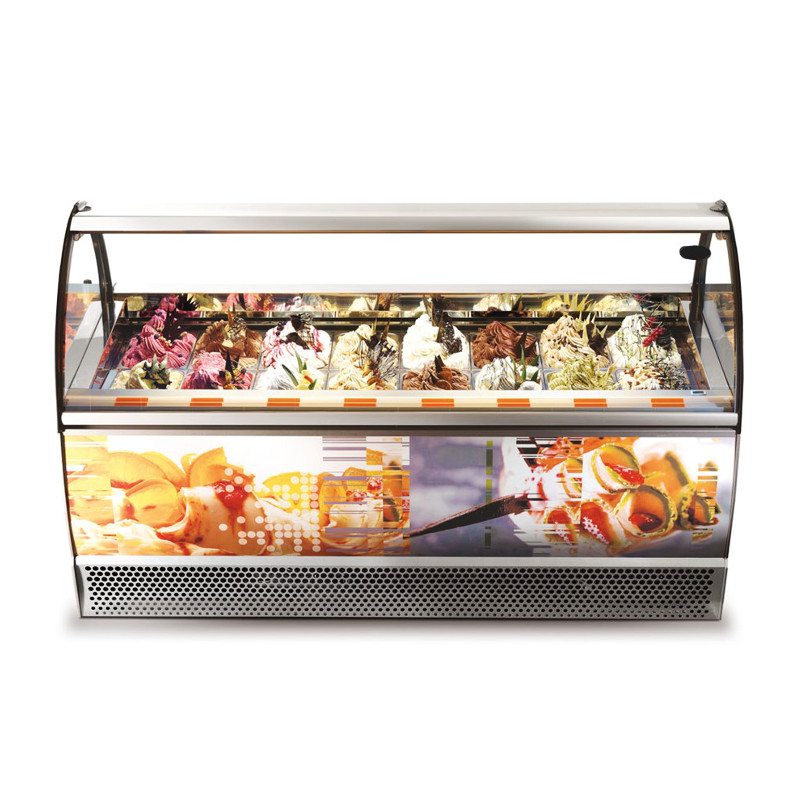 Premium αερόψυκτη βιτρίνα χύμα παγωτού – Gaia 20 LX