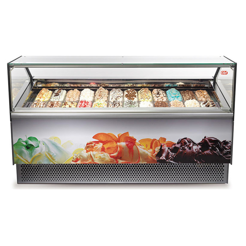 Premium αερόψυκτη βιτρίνα χύμα παγωτού – Gaia 16 ST