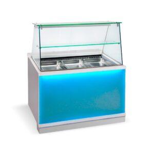BFC 110 Glass,  Ψυγείο σαλατών με βιτρίνα Corian, GN 1/1 BAMBAS
