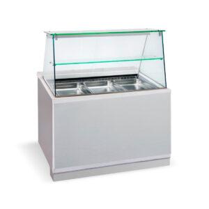 BFC 110 Inox,  Ψυγείο σαλατών με βιτρίνα, GN 1/1 BAMBAS