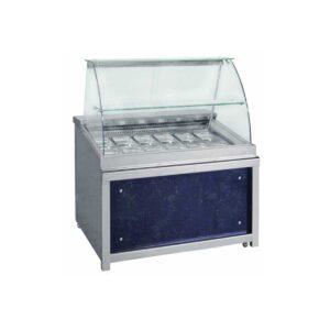 BFM 110 Wood,  Ψυγείο σαλατών με βιτρίνα, GN 1/1  και γυάλινο ράφι BAMBAS