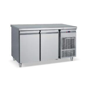 PG 185, Ψυγείο πάγκος συντήρηση με 2 πόρτες GN και ψυκτικό μηχάνημα BAMBAS