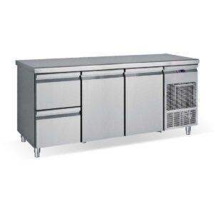 PG185 1S2P, Ψυγείο πάγκος συντήρηση με 2 συρτάρια 2 πόρτες GN BAMBAS