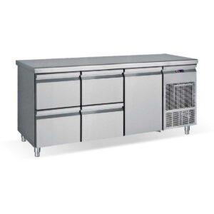 PG185 2S1P, Ψυγείο πάγκος συντήρηση με 4 συρτάρια και 1 πόρτα GN BAMBAS