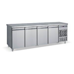 PG 239, Ψυγείο πάγκος συντήρηση με 4 πόρτες GN και ψυκτικό μηχάνημα BAMBAS