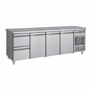 PG 239 1S3P, Ψυγείο πάγκος συντήρηση με 4 συρτάρια και 2 πόρτες BAMBAS