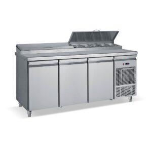 PIMG 185  Ψυγείο σαλατών χωρίς βιτρίνα με 3 πόρτες BAMBAS