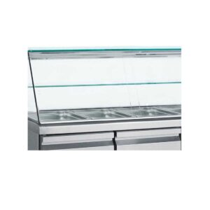 SMGN 139,  Ψυγείο σαλατών με βιτρίνα για λεκανάκια GN 1/1 BAMBAS