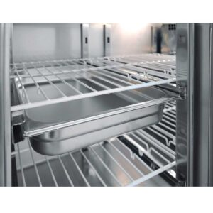 PG 110, Ψυγείο πάγκος συντήρηση με 2 πόρτες GN και ψυκτικό μηχάνημα BAMBAS